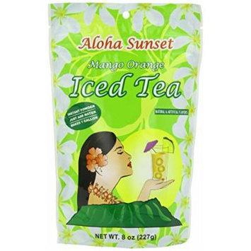 Aloha Sunset Tea Aloha Sunset Mango Orange Iced Tea , 8-Ounce Bags (Pack of 6)