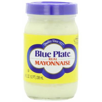 Blue Plate Mayonnaise, Real, 8 Ounce (Pack of 12)