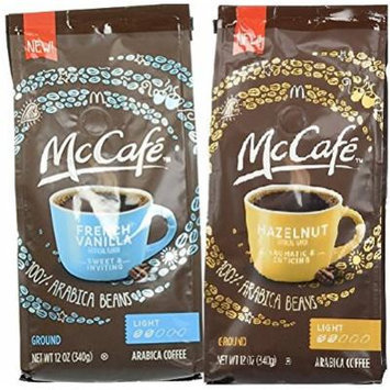 Mccafe Premium Roast Coffee Two Flavor Bundle:(1) Mccafe French Vanilla Ground Coffee, Light Roast, and (1) Hazelnut, Light Roast, 12 Oz. Ea. (2 Bags Total)