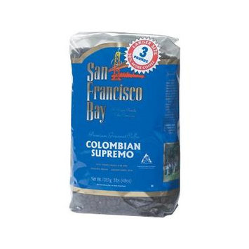 San Francisco Bay Colombian Supremo Fresh Whole Bean Coffee - 3 Lbs