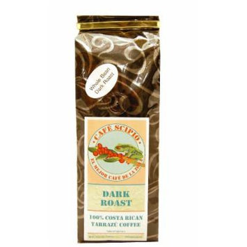 Cafe Scipio Whole Bean Coffee, Dark Roast, 1-Pound Bags (Pack of 2)
