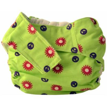 Cuteybaby All in One Modern Cloth Diaper, Flower Power, Toddler