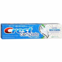 Crest Complete Multi-Benefit, Extra Whitening with Tartar Protection Fluoride Toothpaste, Clean Mint 8 oz / 226 g