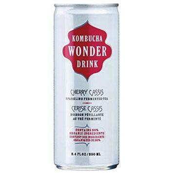 Kombucha Wonder Drink, Cherry Cassis Fermented Tea, 8.4oz Can (Pack of 24)