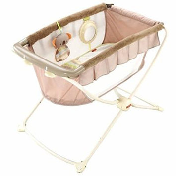 Fisher Price Deluxe Rock N and Play Koala Portable Travel Bassinet Crib