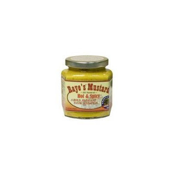 Rayes Raye 's All Natural Hot & Spicy Mustard 9 OZ (Pack of 6)