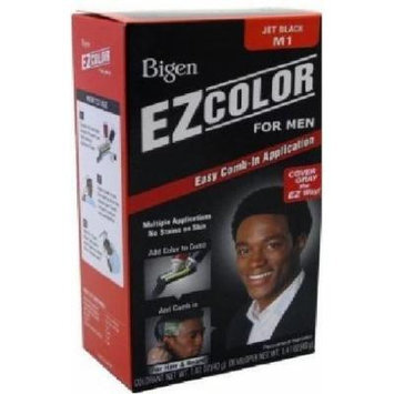 Bigen Mens Jet Black Hair Dye for Hair or Beard, Easy Comb-In Application, No Ammonia, Low Peroxide and No Stains to Your Skin, With Aloe Extract and Olive Oil for Extra Smooth Hair, Multiple Application