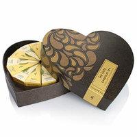 Tea Forte Large Heart Chocolat Teas in Gift Box with 12 Handcrafted Pyramid Tea Infusers - Black Tea, Herbal Tea