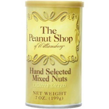 The Peanut Shop of Williamsburg Mixed Nuts with Virginia Peanuts (Salted), 7-Ounce Tin