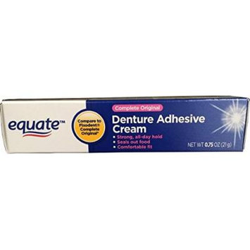 Equate Complete Original Denture Adhesive Cream, .75oz, Compare to Fixodent Original