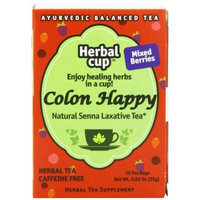 Herbal Cup Herbal Tea, Colon Happy Mixed Berries, 16 Tea Bags