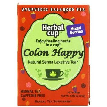 Herbal Cup Herbal Tea, Colon Happy Mixed Berries, 16 Tea Bags