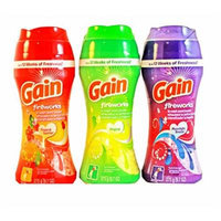 Gain Fireworks In-wash Scent Booster Variety Pack, 9.7 Oz Each (Original, Moonlight Breeze, & Tropical Sunrise)