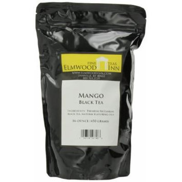 Elmwood Inn Fine Teas, Mango Black Tea, 16-Ounce Pouch