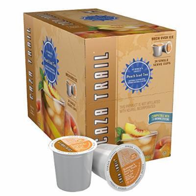 Caza Trail Tea, Summer's Sweet Peach Iced Tea, 24 Single Serve Cups