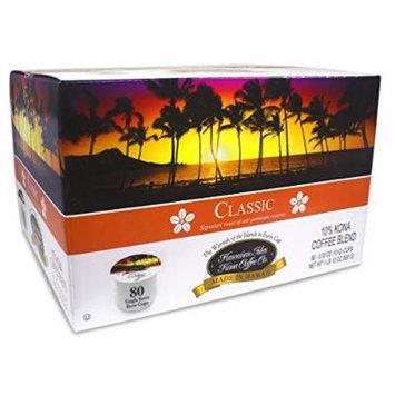 Hawaiian Isles Kona Coffee Co., Kona Classic, Medium Roast, K-Cup 80 pack