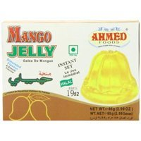 AHMED Halal Jello Vegetarian Crystal Jelly, Mango, 85 Gram (Pack of 12)