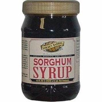 Golden Barrel Sorghum Syrup, 16 Oz. Wide Mouth Jar (Pack of 2)