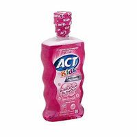 ACT Kids Anti-Cavity Fluoride Rinse, Bubblegum 16.9 fl oz (479.11 g) Pack of 6