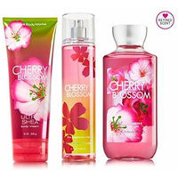 Bath & Body Works Signature Collection Cherry Blossom Gift Set ~ Body Cream ~ Shower Gel & Fragrance Mist. Lot of 3