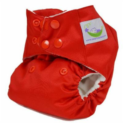 Sweet Pea One Size Pocket Diaper (red)