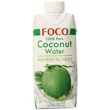 FOCO Pure Coconut Water, 100% Pure, 11.2 Fluid Ounce (Pack of 12)