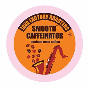 Java Factory Single Cup Coffee for Keurig K Cup Brewers, Smooth Caffeinator Medium Roast, 24 Count