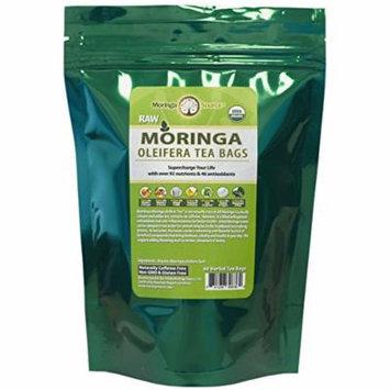 Moringa Tea - USDA Organic - 60 Potent Tea Bags - Antioxidant Rich Energy Booster (Natural (60 count))