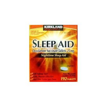 Kirkland Signature Nighttime Sleep Aid (Doxylamine Succinate 25 mg), 192 Tablets Personal Healthcare / Health Care