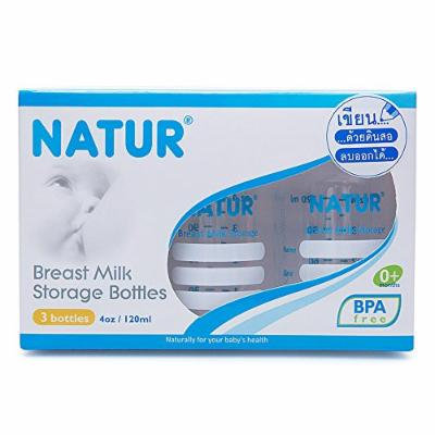 Nature Breast Milk Storage Bottles Pack3 Bottle 4 Oz./120ml 0+months