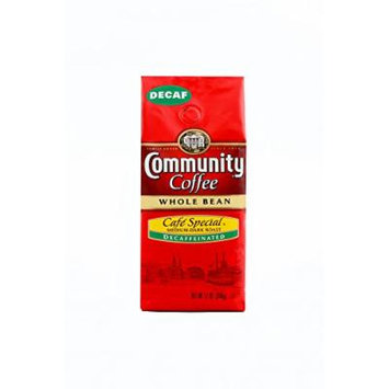 Community Coffee Whole Bean Cafe Special Decaffeinated, 12 Ounce (Pack of 3)