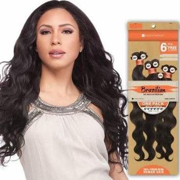 Sensationnel Unprocessed Brazilian Virgin Remy Human Hair Weave Bare&natural Natural Body 6pcs [14