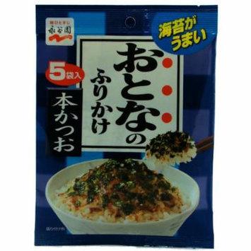 Nagatanien Otona-no-Furikake Dried Rice Seasoning , Seaweed and Bonito Flavor , 2.5 g x 5 (Japan Import)