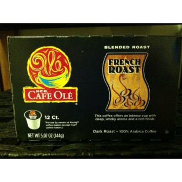 H.E.B Cafe Ole Blended Roast French Roast k-cup 12 ct. (Pack of 2)