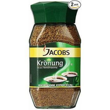 JACOBS KROENUNG INSTANT COFFEE - NET 3.52 OZ / 100G IN GLASS JAR - PACK OF 2