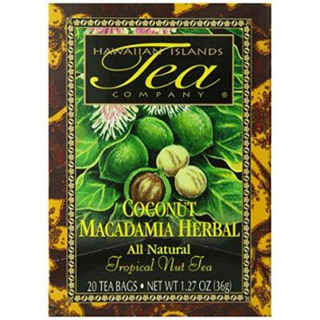 Hawaiian Islands Tea, Coconut Herbal, 1.27-Ounce Boxes (Pack of 6)