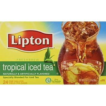 2 x 24 Gallon Size Lipton Tropical Iced Tea Bags (2 Boxes per order)
