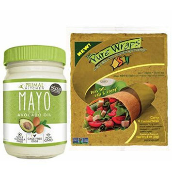 Primal Kitchen Paleo Avocado Oil Mayo and Pure Wraps Curry Coconut Wraps