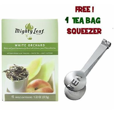 Mighty Leaf Tea , White Orchard ,(with FREE Tea Bag Squeezer) (1 Pack)