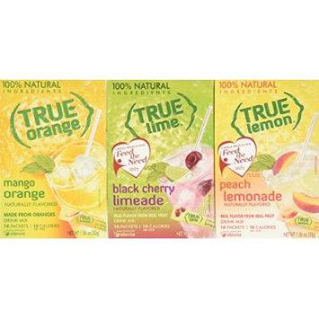 True Black Cherry Limeade, Peach Lemonade, & Mango Orange, 10-count (3pk)