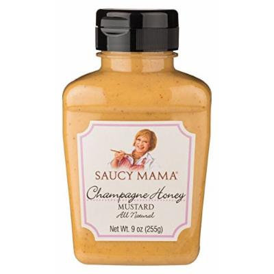Saucy Mama Champagne and Honey Mustard, 9-Ounce (Pack of 6)