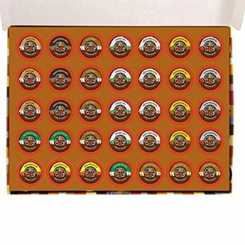 Crazy Cups Premium Hot Chocolate Deluxe Sampler K-cup Brewers, 35 Count