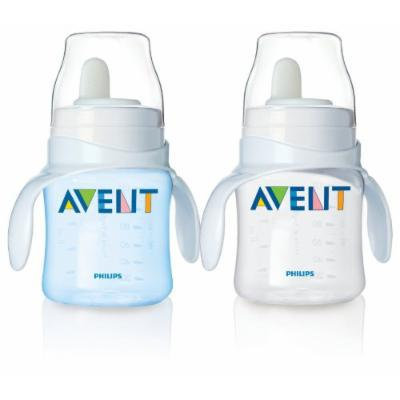 Philips Avent Bottle to First Cup Trainer 4 Months and Up - Blue/Clear (2 Pack)