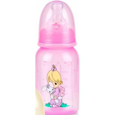 Nuby Printed Bottle, 4 Ounce, Pink