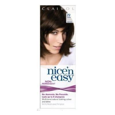 Clairol Nice N' Easy Hair Color #79, Dark Brown (Pack of 4) Uk Loving Care