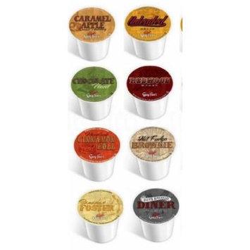 8 Pack - Guy Fieri Coffee Sampler, Single Cup Coffee for Keurig® - Bananas Foster, Caramel Apple, Hot Fudge Brownie, Chocolate Mint, American Diner, Cinnamon Roll
