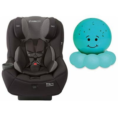 Maxi-Cosi Pria 70 Convertible Car Seat with Easy Clean Fabric and Blue Twilight On the Go Nightlight, Black Gravel