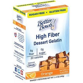 Better Bowls Sugar Free, Orange Gelatin, 1.4 Ounce (Pack of 6)