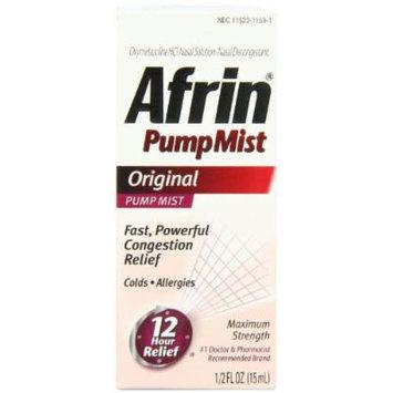 Afrin 12 Hour Pump Mist Original Sinus Treatment, 3 Count