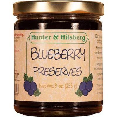 Hunter & Hilsberg Preserves, Blueberry, 9 Ounce